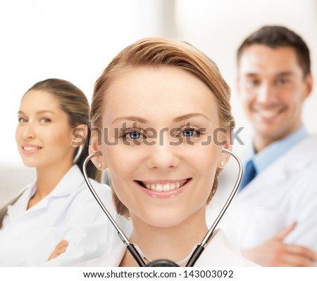 picture of attractive female doctor with stethoscope