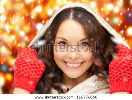 picture of beautiful woman in white sweater