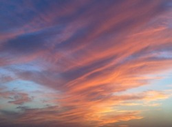 picture of blue and red clouded sky at time of sunset, 21st March 2011