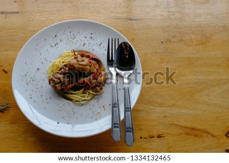 picture of chicken spaghetti