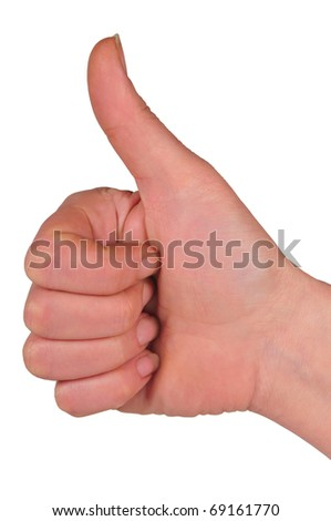 picture of closed fist and thumb on high