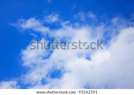 Picture of cloud on the blue sky.