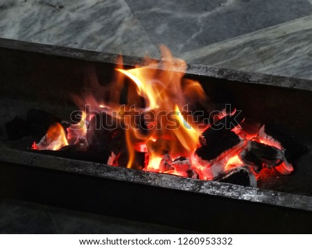 Picture of coal fired before bar b que & perfect for background image in alot of projects