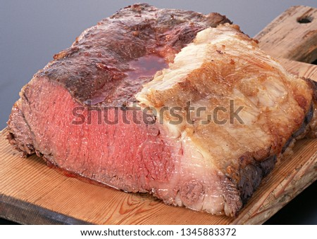 picture of cooking meat steak
