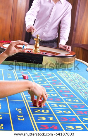 Picture of croupier and hands