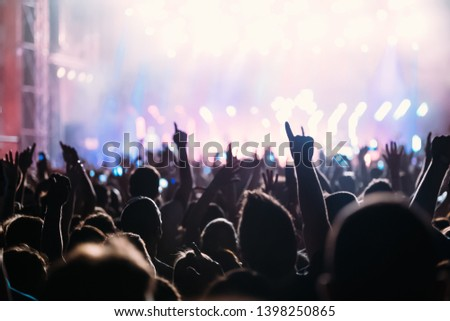 Picture of dancing crowd at music festival #1398250865