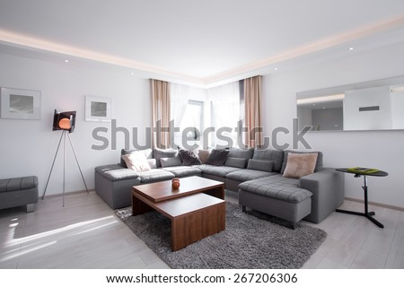 Picture of designed interior with modern furniture #267206306