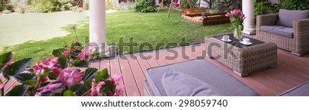 Picture of designed porch with garden furniture