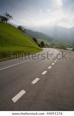 Picture of empty countryside road #44091376