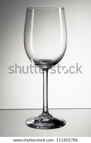 Picture of empty wine glass