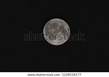 Picture of full moon captured on full moon night at 1 AM