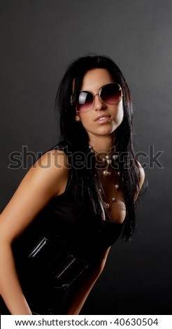 Picture of girl wearing a clothes for night club - stock photo