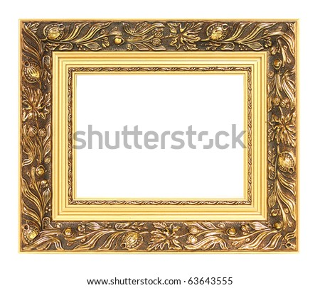 Picture of golden vintage art frame - stock photo