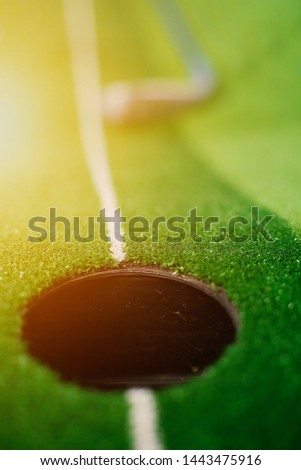 Picture of Golf Stick. Isolated on colorful background.