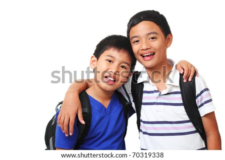 picture of happy asian boys