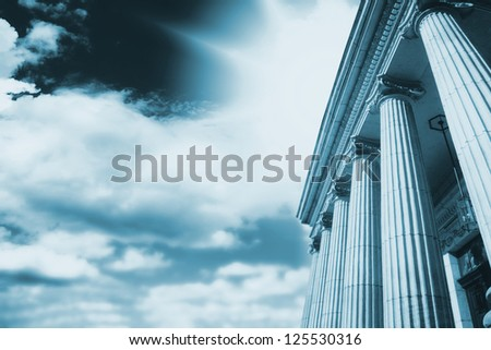 Picture of large greek freestone columns