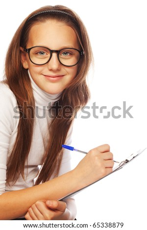 picture of learning  school girl