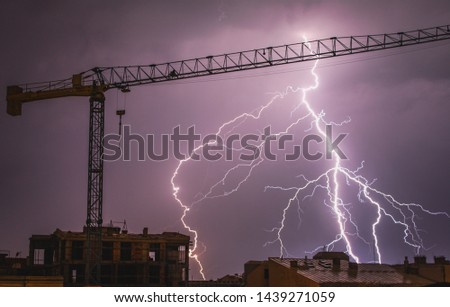 Picture of lightning in the storm