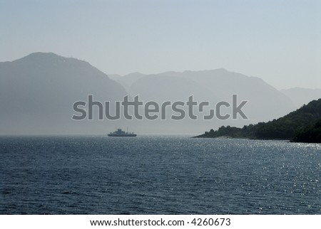 Picture of Lysefjord - fjord near Stavanger in Norway.