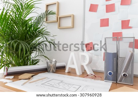 Picture of modern style study and working area