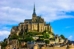 Picture of Mont Saint-Michel abbey in France, Bretagne.
