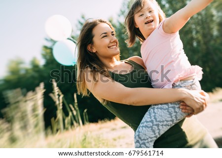 Picture of mother and child with special needs