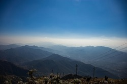 picture of mountains from top of a mountain.