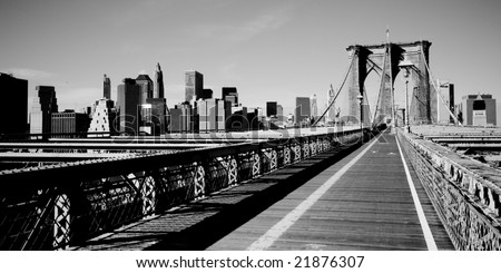 picture of New York from the Brooklyn Bridge