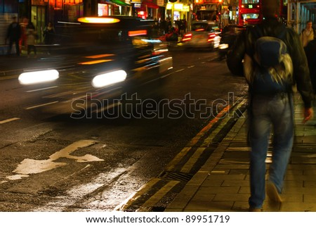 picture of nightlife in london city