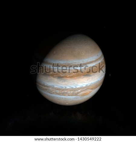 Picture of planet Jupiter in space