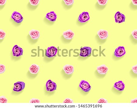 Picture of roses on a yellow background