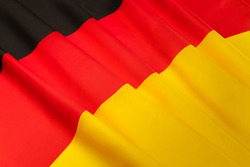 Picture of silky pleated German flag