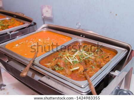 Picture of some colorful Indian curries