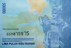Picture of Tari Legong on one hundred thousand Indonesian money