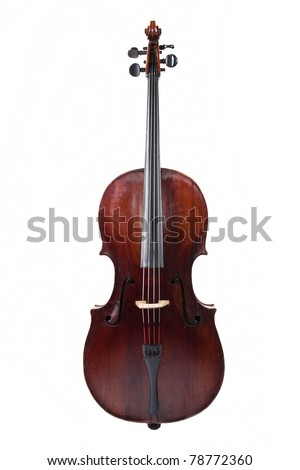Picture of the cello on a white background