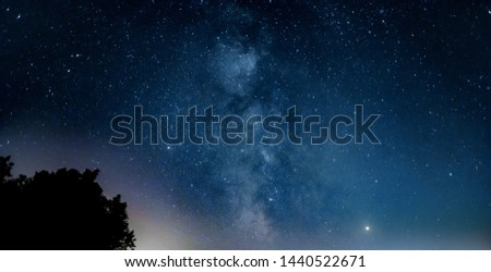 Picture of the Milky Way despite of some light pollution from the nearby city. Jupiter and Saturn can also be seen