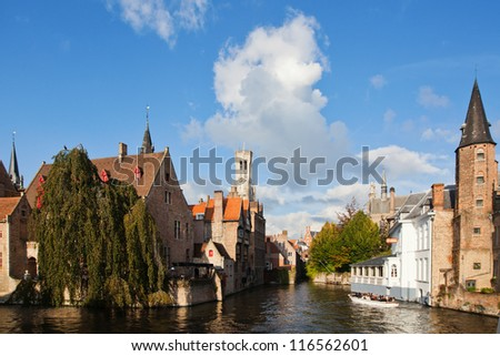 picture of the Rozenhoedkaai in Bruges, Belgium