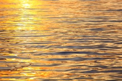 picture of the surface water in the sunset time