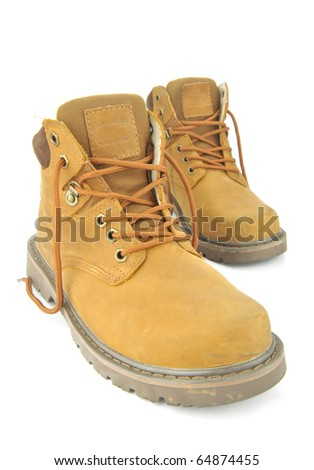 Picture of yellow boots