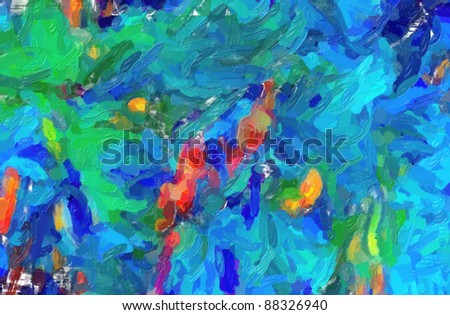 Picture, oil paints: abstract background, hand paintings - stock photo