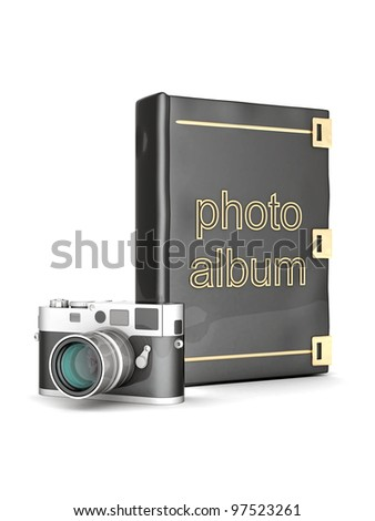 Picture photo album on a white background