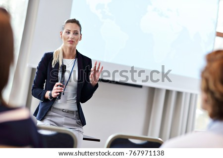 Picture showing business people having a conference #767971138