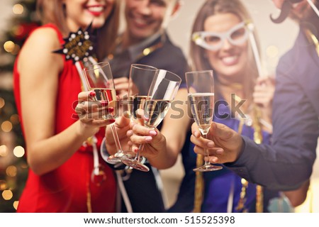 Shutterstock Picture showing group of friends celebrating New Year