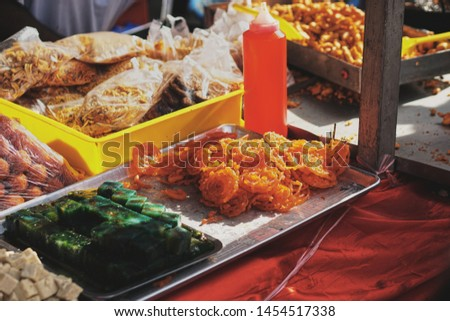 picture showing sweets which are sold at a local market at the Batu Caves in Malaysia
