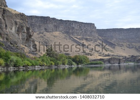 picture taken while kayaking the snake river in southern idaho
