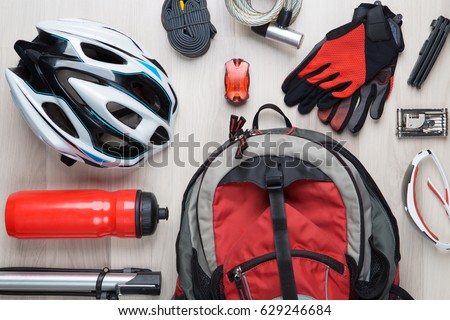 Picture top of biker accessories