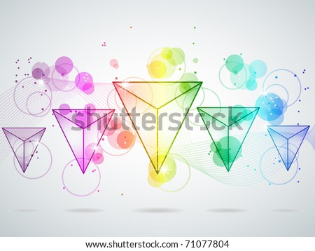 Picture with multi colored triangle