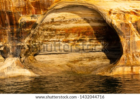 Pictured Rocks National Lakeshore cave rock formation