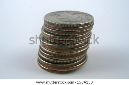 Pictures of coins on top of each other