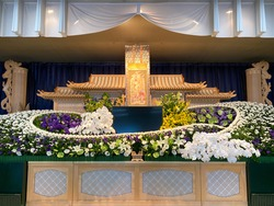 Pictures of Japanese funeral halls